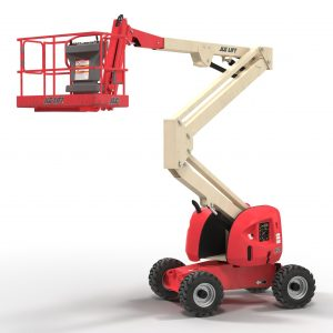 SELF-PROPELLED EWP WITH TELESCOPING KNUCKLE BOOM